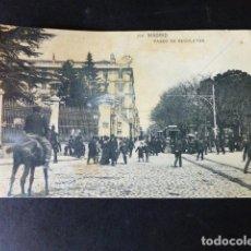 Postales: MADRID PASEO DE RECOLETOS. Lote 287244303