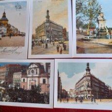 Postales: 5 POSTALES DE MADRID, ARTES GRÁFICAS MUNICIPALES. Lote 287695773