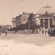 Postales: MADRID, PASEO DE ATOCHA. ED. HAUSER Y MENET Nº 1129. REVERSO SIN DIVIDIR. Lote 288039348