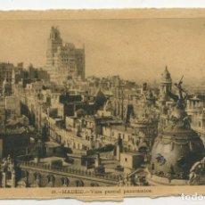 Postales: POSTAL DE MADRID (VISTA PARCIAL PANORÁMICA) HELIOTIPIA ARTÍSTICA. (CIRCULADA, 1948). Lote 288618883