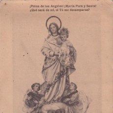 Postales: NUESTRA SEÑORA DE LOS ÁNGELES DE MADRID. FOTOTIPIA CASA LACOSTE MADRID. 15 X 9 CM. Lote 289316543