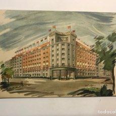 Postales: MADRID, POSTAL PUBLICIDAD THE CASTELLANA HILTON (H.1958?) CIRCULADA. Lote 289771028