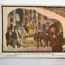 Postales: MADRID, POSTAL RECUERDO DE LAS CUEVAS DE LUIS CANDELAS. CUCHILLEROS,1 (H.1958?) CIRCULADA. Lote 289771048