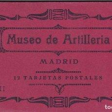 Postales: MADRID, MUSEO DE ARTILLERIA, BLOC POSTAL COMPLETO CON 12 POSTALES. ED. HAUSER Y MENET. Nº II. Lote 289886273