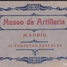 Postales: MADRID, MUSEO DE ARTILLERIA, BLOC POSTAL COMPLETO CON 12 POSTALES. ED. HAUSER Y MENET. Nº I. Lote 289886603