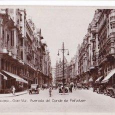 Postales: MADRID, GRAN VIA. ED. SOCIEDAD GENERAL ESPAÑOLA DE LIBRERIA Nº 114. FOTOGRAFICA. SIN CIRCULAR. Lote 292588638