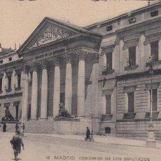 Postales: MADRID, CONGRESO DE LAS DIPUTADOS. ED. HAUSER Y MENET Nº 12. SIN CIRCULAR. Lote 292589533