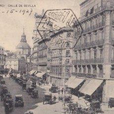 Postales: MADRID, CALLE DE SEVILLA. ED. HAUSER Y MENET. CIRCULADA. Lote 292592048