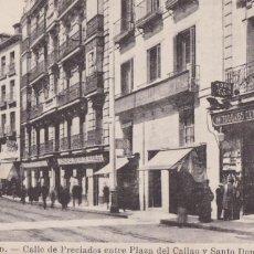 Postales: MADRID, CALLE PRECIADOS ENTRE CALLAO Y SANTO DOMINGO. ED. FOTOTIPIA J. ROIG. SIN CIRCULAR. Lote 292593238