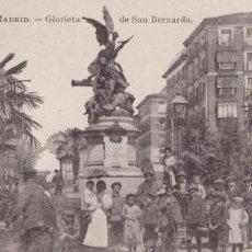 Postales: MADRID, GLORIETA DE SAN BERNARDO. ED. FOTOTIPIA J. ROIG. SIN CIRCULAR. Lote 292593618