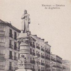 Postales: MADRID, ESTATUA DE ARGÜELLES. ED. FOTOTIPIA J. ROIG. SIN CIRCULAR. Lote 292594608
