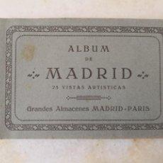 Postais: ÁLBUM DE MADRID 25 PISTAS ARTÍSTICAS GRANDES ALMACENES M PARÍS ESTÁ INCOMPLETO FALTAN CERTIF 4,99. Lote 292602433