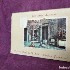 Postais: ANTIGUO LIBRITO CON 10 POSTALES EN ACORDEÓN DEL PALACIO REAL DE MADRID, CÁMARA GASPARINI. Lote 293361583
