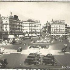 Postales: MADRID PUERTA DEL SOL ESCRITA METRO BUS AUTOMOVIL. Lote 294015473