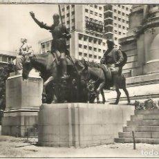 Postales: MADRID MONUMENTO A DON QUIJOTE ESCRITA. Lote 294015918