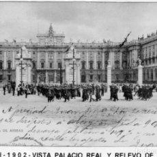 Postales: MADRID.- PALACIO REAL, SIN DIVIDIR,CIRCULADA 1902, EDC HAUSER Y MENET, JMOLINA1946. Lote 294140873
