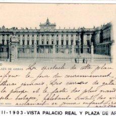Postales: MADRID.- PALACIO REAL, SIN DIVIDIR,CIRCULADA 1903, EDC HAUSER Y MENET, JMOLINA1946. Lote 294141393