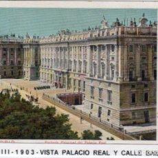 Postales: MADRID.- PALACIO REAL, SIN DIVIDIR,CIRCULADA 1903, EDC, ROMO, JMOLINA1946. Lote 294142113
