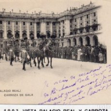 Postales: MADRID.- PALACIO REAL, SIN DIVIDIR,CIRCULADA 1903, EDC, HAUSER Y MANET, JMOLINA1946. Lote 294142603
