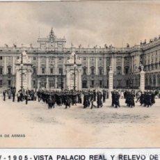 Postales: MADRID.- PALACIO REAL, SIN DIVIDIR,CIRCULADA 1905, EDC, HAUSER Y MANET, JMOLINA1946. Lote 294142938