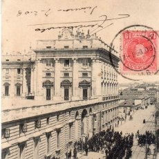 Postales: MADRID.- PALACIO REAL,DIVIDIDA,CIRCULADA 1908, EDC, T G, JMOLINA1946. Lote 294143593