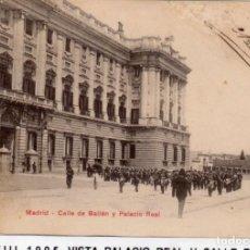 Postales: MADRID.- PALACIO REAL,SIN DIVIDIR,CIRCULADA 1905, EDC, HAUSER Y MENET, JMOLINA1946. Lote 294144723