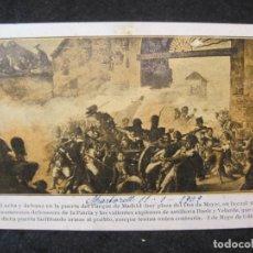 Postales: LUCHA Y DEFENSA EN LA PUERTA DEL PARQUE DE MADRID-2 DE MAYO-POSTAL ANTIGUA-(85.152). Lote 295361308