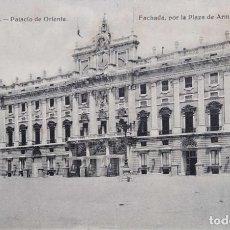 Postales: MADRID. PALACIO DE ORIENTE: FACHADA, POR LA PLAZA DE ARMAS. HELIOTIPIA ARTÍSTICA ESPAÑOLA. NUEVA. BL. Lote 295565703