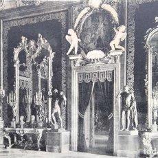 Postales: MADRID. PALACIO DE ORIENTE: DETALLE DEL SALÓN DEL TRONO. HELIOTIPIA ARTÍSTICA ESPAÑOLA. NUEVA. BLANC. Lote 295565733