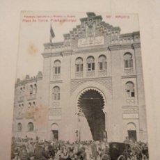 Postales: MADRID - PLAZA DE TOROS PUERTA PRINCIPAL - 1912. Lote 295646703