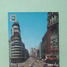 Postales: POSTAL DE MADRID, PLAZA DE CALLOA Y CAPITOL. Lote 295703928