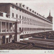 Postales: MONASTERIO DE EL ESCORIAL. 4 JARDÍN DE LOS FRAILES. HAUSER Y MENET. NUEVA. BLANCO/NEGRO. Lote 296554543