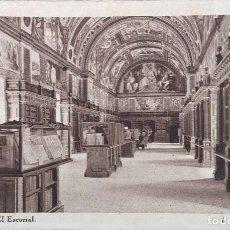 Postales: MONASTERIO DE EL ESCORIAL. 6 BIBLIOTECA. HAUSER Y MENET. NUEVA. BLANCO/NEGRO. Lote 296554553