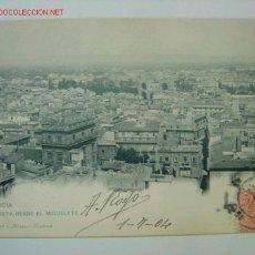 Postales: VALENCIA VISTA DESDE EL MIGUELETE. Lote 7445823