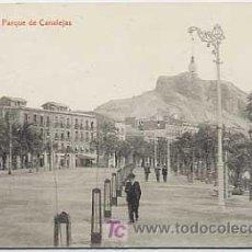 Postales: ALICANTE. PARQUE DE CANALEJAS. FOTOTIPIA THOMAS . CIRCULADA. Lote 3301121