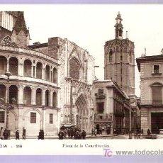 Postales: TARJETA POSTAL DE VALENCIA. Nº 28. PLAZA DE LA CONSTITUCION. DURA.. Lote 4239392