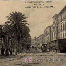 Postales: ALICANTE. CARRETERA DE LA EXPLANADA. . Lote 4577812