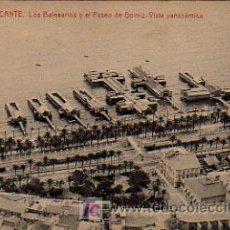Postales: ALICANTE. LOS BALNEARIOS Y EL PASEO DE GOMIZ. VISTA PANORAMICA. . Lote 5223225