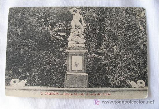 POSTAL ANTIGUA DE VALENCIA FUENTE DEL TRITON (Postales - España - Comunidad Valenciana Antigua (hasta 1939))