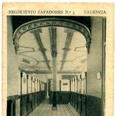 Postales: VALENCIA, REGIMIENTO ZAPADORES, OFICINAS, P18208. Lote 9647936