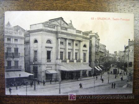 Postal antigua valencia teatro principal 65 comprar for Teatro principal valencia