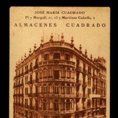 Cartes Postales: POSTAL ALMACENES CUADRADO VALENCIA - PARTE DETRAS PUBLICIDAD . Lote 47176453
