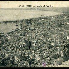 Postales: TARJETA POSTAL DE ALICANTE, DESDE EL CASTILLO. Lote 11875885