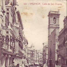 Postales: VALENCIA: CALLE DE SAN VICENTE. FOTOTIPIA THOMAS. SIN CIRCULAR. . Lote 15408310