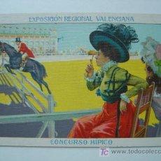 Postales: VALENCIA - EXPOSICION REGIONAL VALENCIANA AÑO 1909 - CONCURSO HIPICO. Lote 9909958