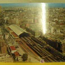 Postales: + POSTAL VALENCIA AÑOS 70 ESTACIÓN DEL NORTE FERROCARRIL SIN CIRCULAR. Lote 7667296