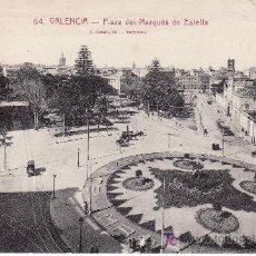 Postales: VALENCIA.Nº 64 PLAZA DEL MARQUES DE ESTELLA.CIRCULADA.. Lote 26693405