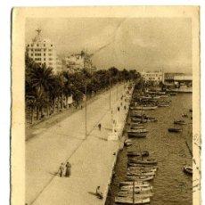 Postales: ALICANTE - Nº 108- EXPLANADA DE ESPAÑA. PUER TO-FRANQUEADA Y ESCRITA 1951(VER FOTO) ED. ARRIBAS. Lote 26256444