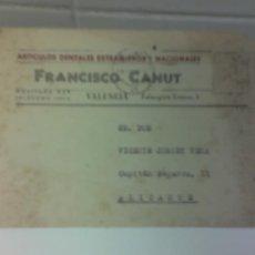 Postales: POSTAL VALENCIA PROPAGANDA ODONTOLOGIA ARTICULOS 1945 PUBLICIDAD DENTAL DIENTES PROTESIS. Lote 18831754
