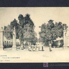 Postales: POSTAL D' ALACANT (ALICANTE): PASSEIG DE CAMPOAMOR (FOT.HAUSER Y MENET, ED.BAZAR LOPEZ) (ANIMADA). Lote 7933620